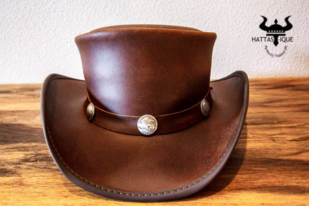 Brown Pale Rider with Buffalo Nickle Hatband