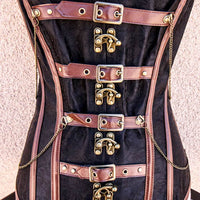 warrior goddess steampunk corset close up