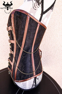 warrior goddess steampunk corset side