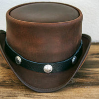 buffalo nickle hatband on marlow top hat