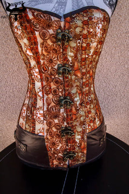hidden butterfly steampunk corset close up