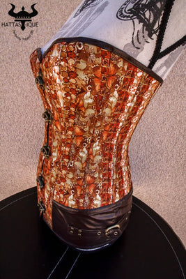 hidden butterfly steampunk corset side