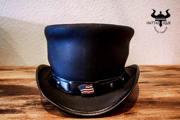 rider top hat with usa hatband
