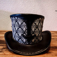 cathedral top hat black and white