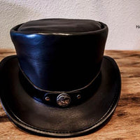 victor top hat with buffalo nickel hatband
