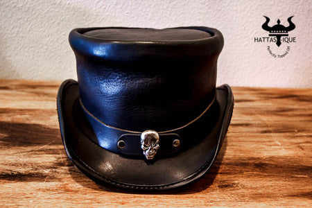 Simple Skull Rider Top Hat