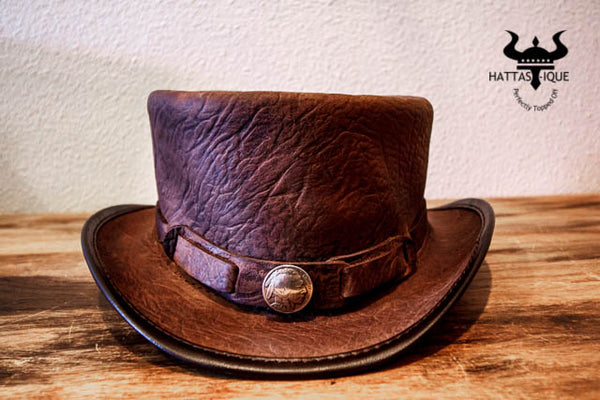 The Victor Top Hat with Buffalo Nickel Hatband