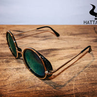 Green Tinted Sunglasses Side View
