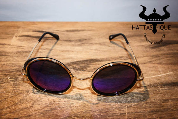 Purple Tinted Sunglasses Front View
