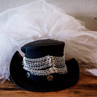 Buffalo Nickel Bridal Veil Top Hat