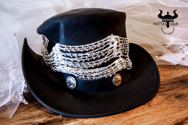 buffalo nickle bridal veil top hat