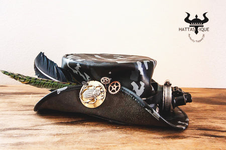 Steampunk Camouflage Pirate Top Hat
