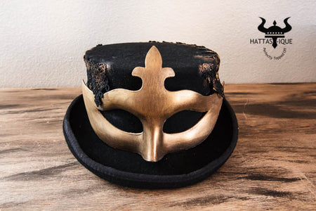 Vintage Steampunk Mask Top Hat