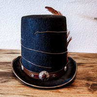 tesla coil custom steampunk top hat