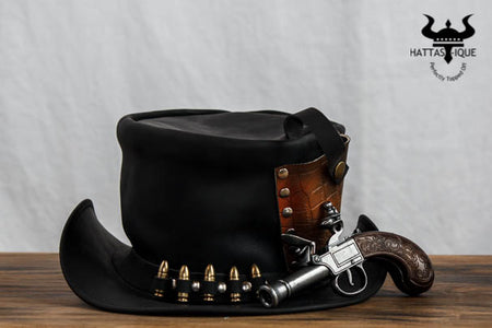 Derringer Pistol Leather Top Hat!