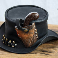 Derringer Pistol In Holder Leather Top Hat