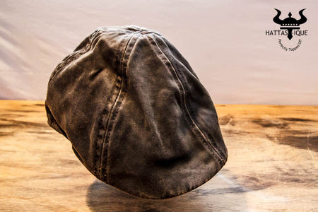 Brown Weathered Duckbill Cap
