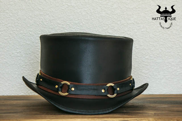El Dorado SR2 Rock Star Leather Top Hat Front View