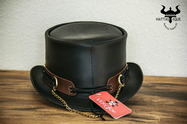 El Dorado SR2 Rock Star Leather Top Hat Back View