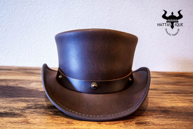 marlow top hat with little stud hatband