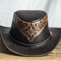 falcon leather western hat