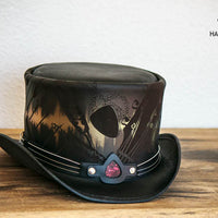 Feedback Leather Top Hat