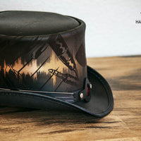 Feedback Leather Top Hat Side View