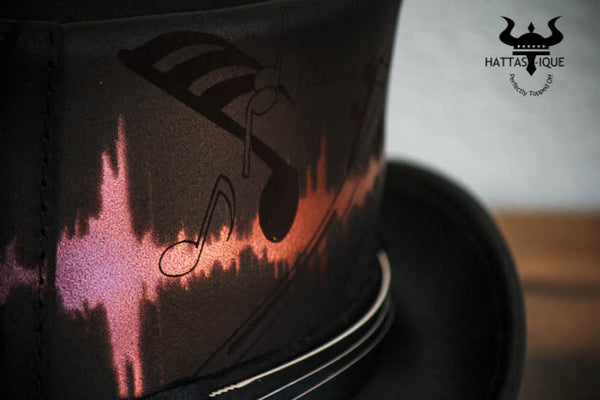 Feedback Leather Top Hat Close View