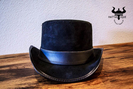Suede Stoker Top Hat