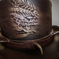 dragon claw top hat close up