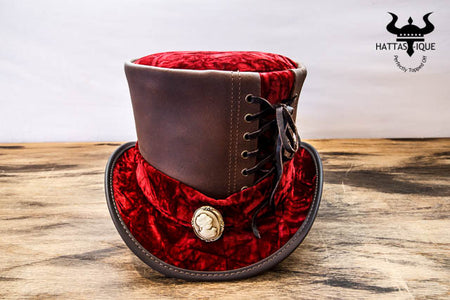Red Velvet Havisham Top Hat