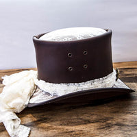 Brown havisham top hat side view