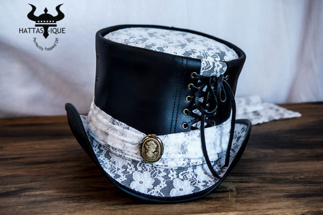 Havisham Leather Top Hat