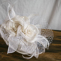 white headband hat