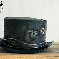 Kraken Black Leather Top Hat Porthole View