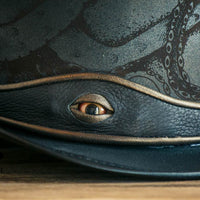 Kraken Black Leather Top Hat Octopus Eye View