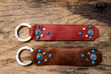 Western Leather Beaded Wrist Bands