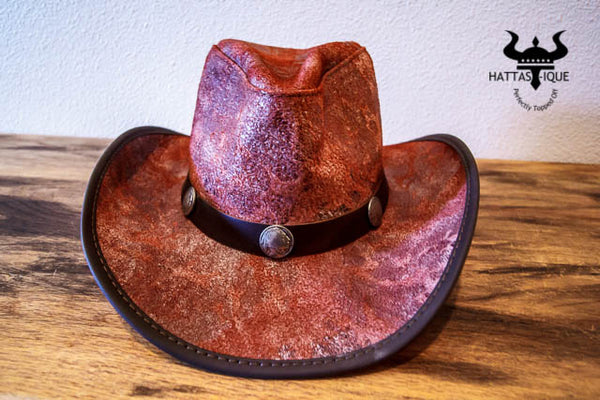 rustic red cyclone western hat