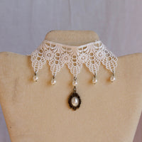Gorgeous Lace Chokers with Fancy Gems