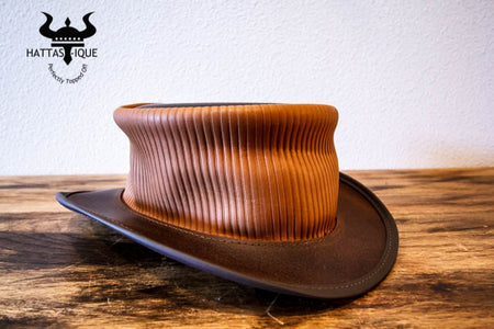 Copper Pinstripe Marlow Top Hat