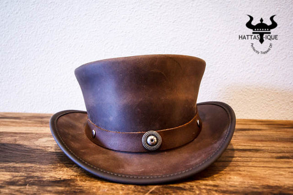 Marlow Top Hat with Rustic Flower Hatband
