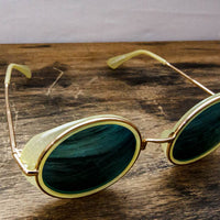 green groovy sunglasses