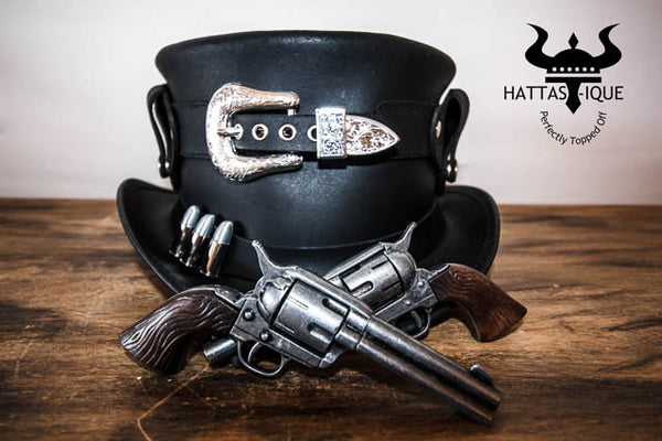 Peacekeeper Leather Top Hat Front View