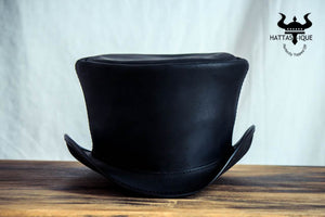 Coachman Black Leather Top Hat