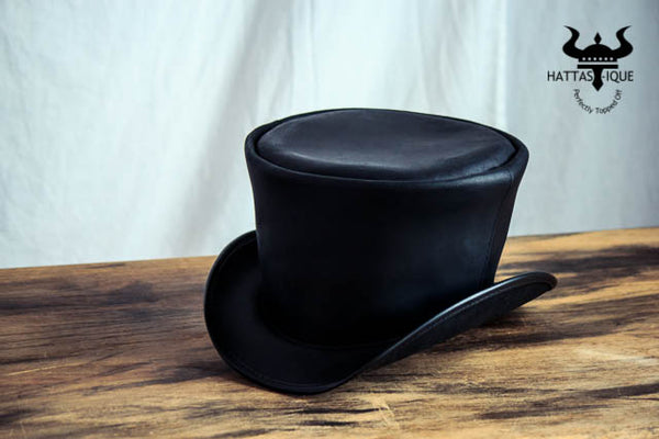 Coachman Black Leather Top Hat Side View