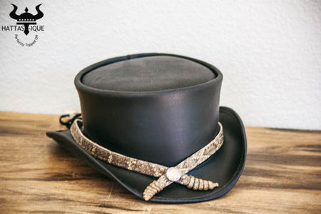 Double Rattle Snake Hatband