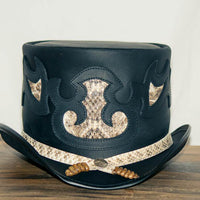 Rio Leather Top Hat Snake