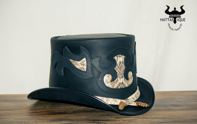 Rio Leather Top Hat Side View
