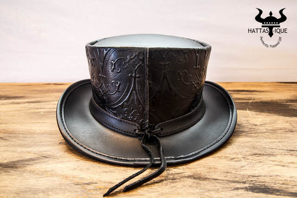 black royale top hat back view