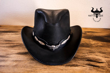 Sidewinder Leather Cowboy Hat